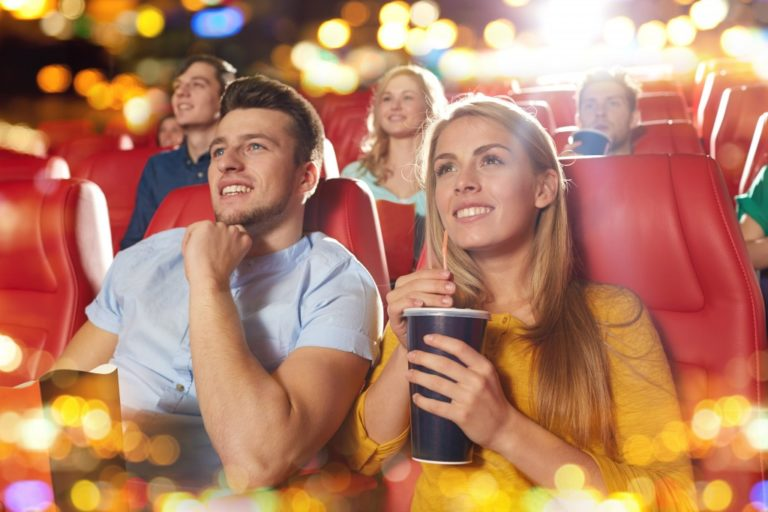 watching movie in cinema